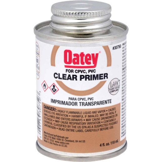 Oatey 4 Oz. Clear Pipe and Fitting Primer for PVC/CPVC