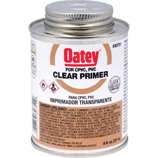 Oatey 8 Oz. Clear Pipe and Fitting Primer for PVC/CPVC
