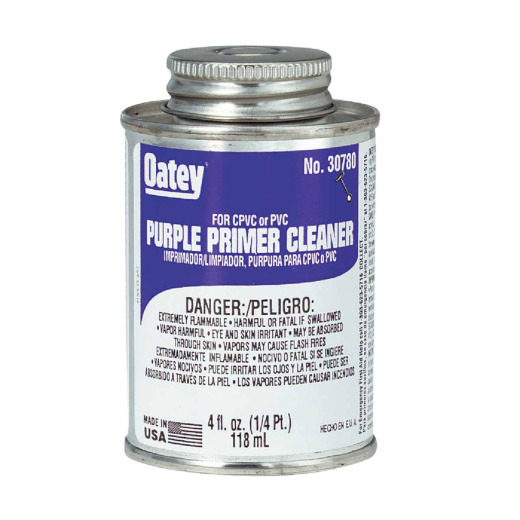 Oatey 4 Oz. Purple Pipe and Fitting Primer/Cleaner for PVC/CPVC