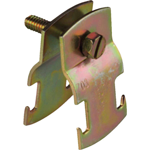 Superstrut 2 In. Gold Galvanized Electroplated Zinc Universal Pipe Clamp
