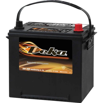 Deka Premium 12-Volt 550 CCA Automotive Battery, Top Post Right Front Positive Terminal