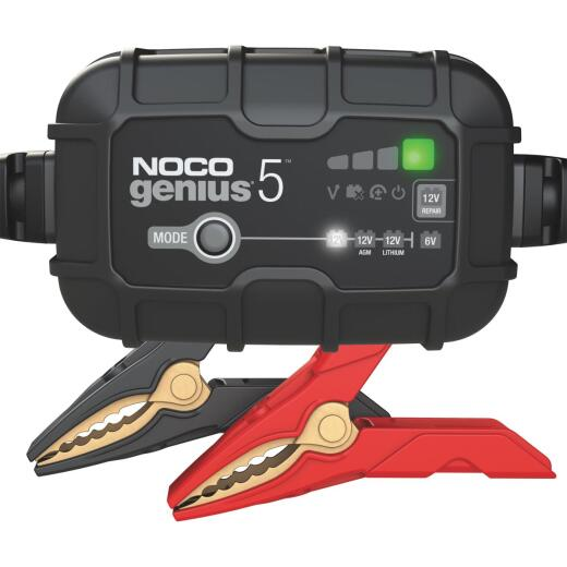 NOCO Genius 6V and 12V 5A Auto Battery Charger, Battery Maintainer, and Battery Desulfator