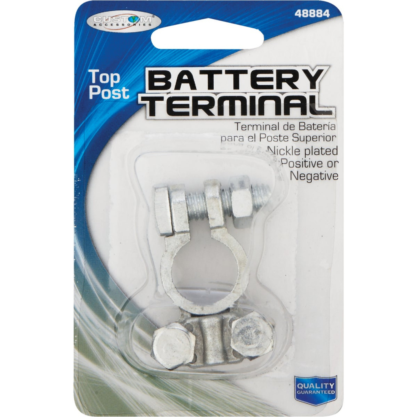 Custom Accessories Top Post Nickel-Plated Battery Terminal Image 2