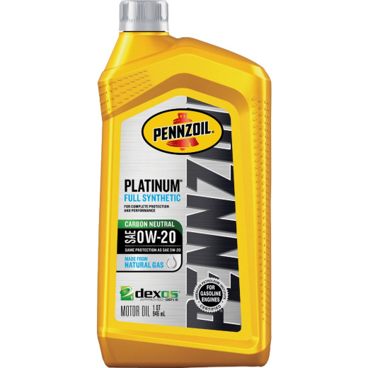 Pennzoil Platinum Full Synthetic SAE OW-20 Quart Motor Oil