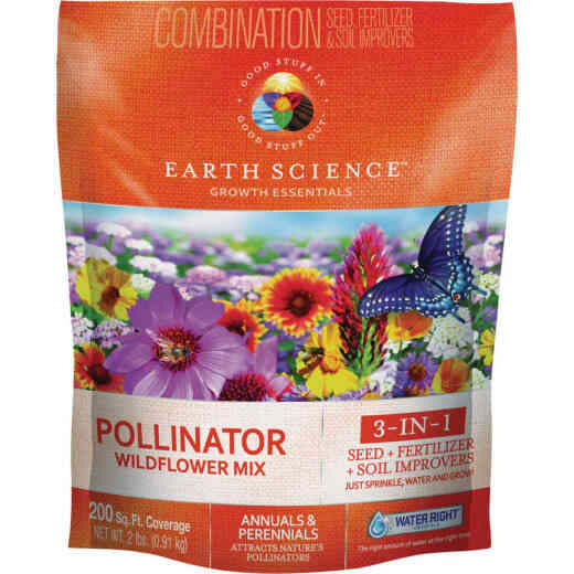 Earth Science All-In-One 2 Lb. 200 Sq. Ft. Coverage Pollinator Wildflower Seed Mix