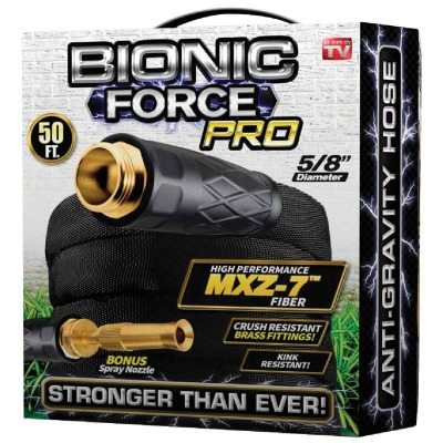 Bionic Force Pro 5/8 In. Dia. X 50 Ft. L. Garden Hose with Brass Fittings