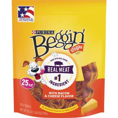 Purina Beggin' Strips Bacon & Cheese Flavor Chewy Dog Treat, 25 Oz.