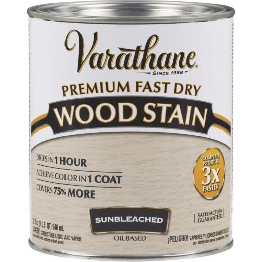 Varathane Fast Dry Sunbleached Wood Urethane Modified Alkyd Interior Wood Stain, 1 Qt.